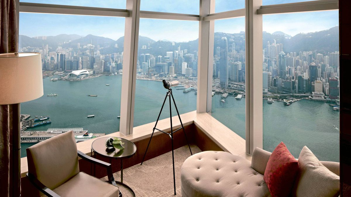 Ritz Carlton Hong Kong: This luxury hotel stretches from the 102nd to the 118th floors of the International Commerce Centre in Kowloon. Billed as the tallest hotel in the world, there's no room, bar or restaurant without a spectacular view of Victoria Harbour, the New Territories or the main Hong Kong island. All 312 rooms are sumptuously decorated. From $560. - Kamal al-Solaylee