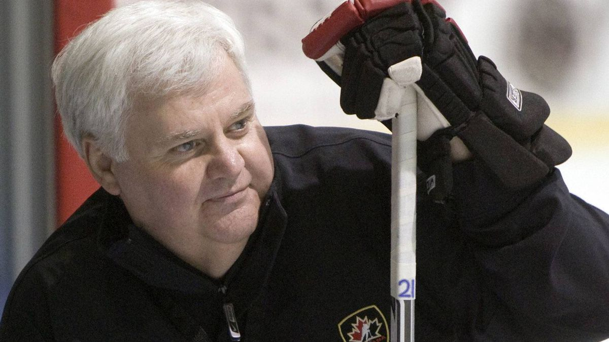 St. Louis Blues coach Ken Hitchcock overlooks a Team Canada practice in Quebec, May 17, 2008. THE CANADIAN PRESS/Ryan Remiorz