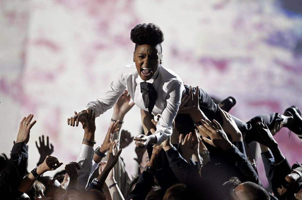 Janelle Monae at the 2011 Grammy Awards, Los Angeles, Feb. 13, 2011. She's set to make a stop at Montreal's Osheaga Festival this summer.