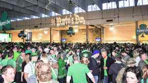 St. Party's Day crowd inside the St. Lawrence Market in Toronto.