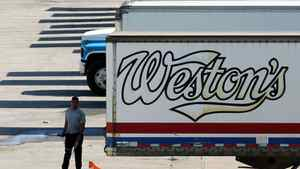File photo of Weston Bakery truck trailers sitting at a George Weston Ltd. owned facility in Toronto.