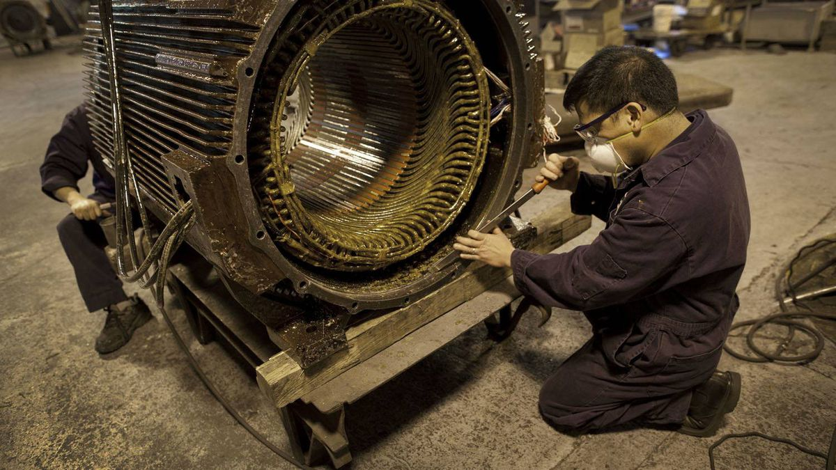 A worker at Elettra Technology Inc.