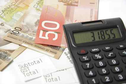 calculator canadian money dollar severance