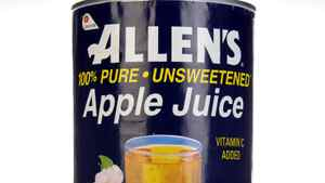 Allen's Apple Juice is one of Lassonde's juice products.