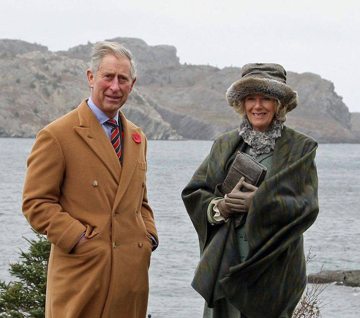 Prince Charles and Camilla, Duchess of Cornwall, in Brigus, Nfld., Nov. 3, 2009.