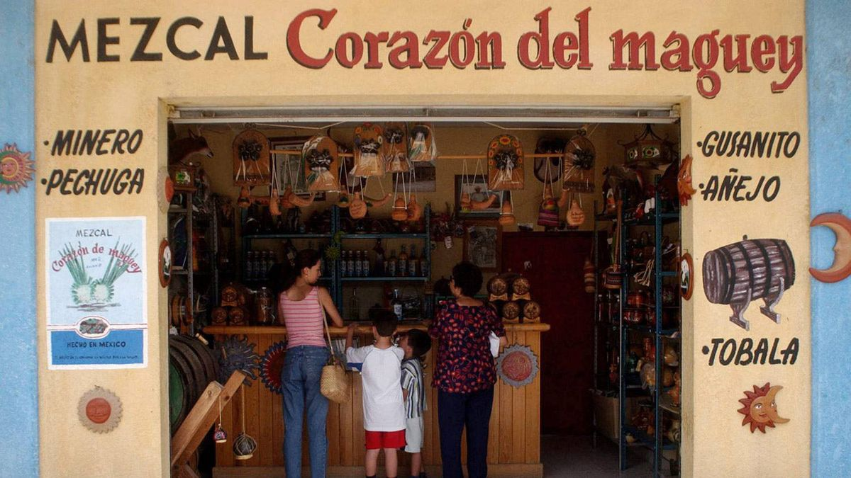 A Mezcal store in Oaxaca: Many of the best mezcals come from small-scale artisan distilleries in nearby villages.