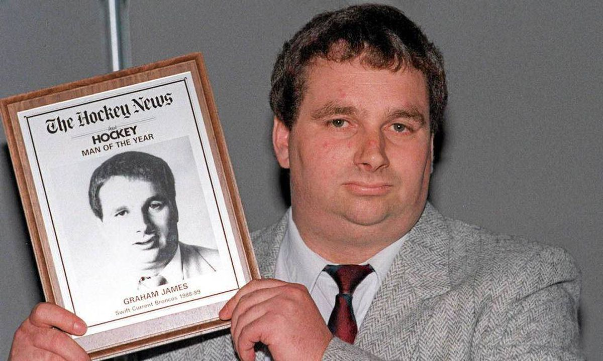 Former junior hockey coach Graham James is seen in a 1989 photo.