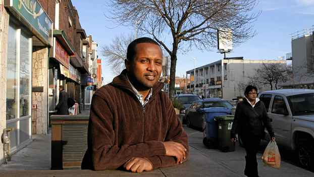 Ethiopian-born Canadian citizen Samuel Getachew is trying to change the name of a section of Danforth Ave., to Little Ethiopia. Photographed on Danforth Ave near Coxwell street.