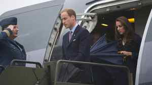 The Duke and Duchess of Cambridge arrive in Yellowknife, N.T. on Monday, July 4, 2011.