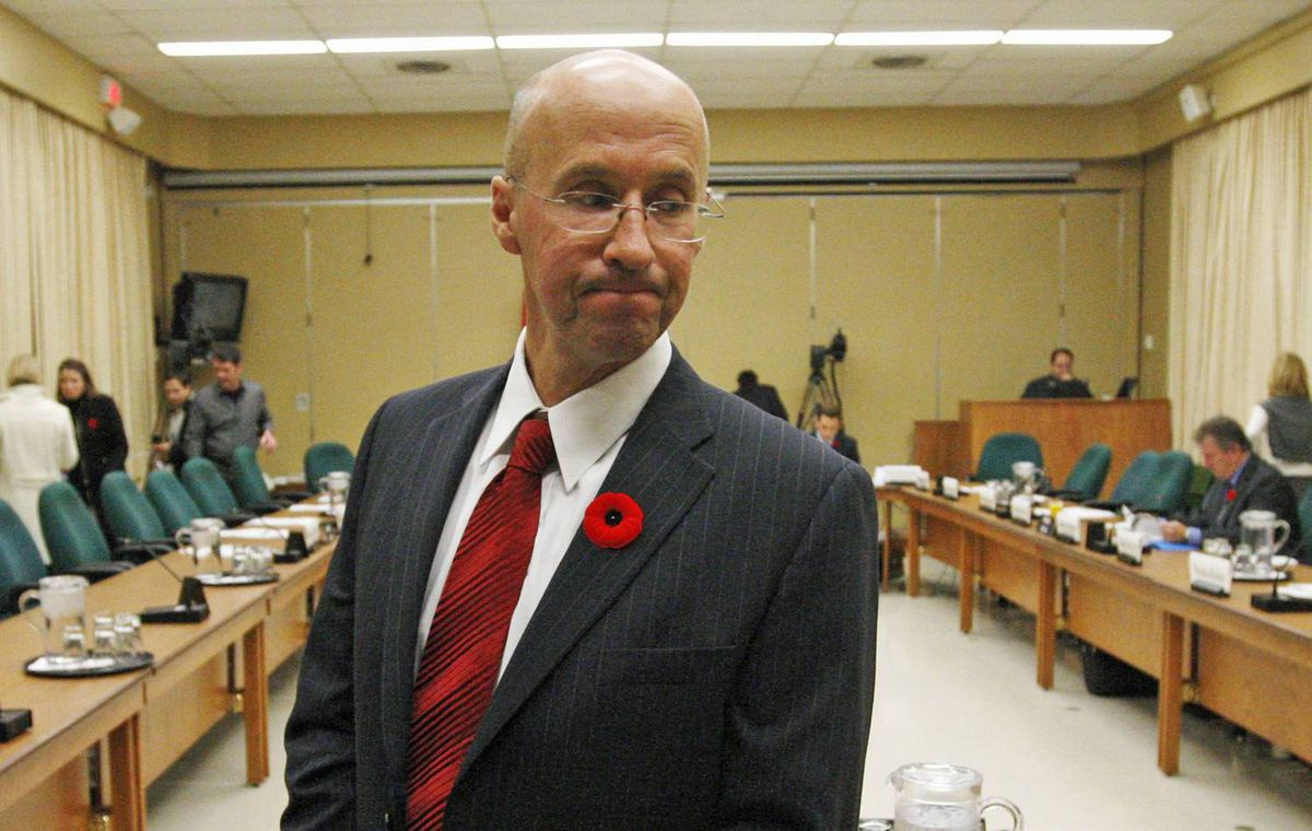 Parliamentary budget officer Kevin Page waits to testify before the House Commons finance committee on Tuesday, November 3, 2009.