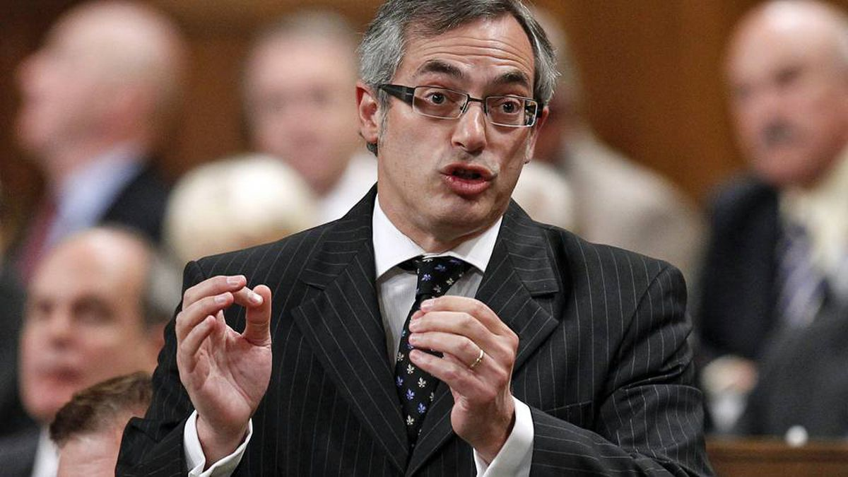 Industry Minister Tony Clement speaks during Question Period in the House of Commons on Sept. 27, 2010.