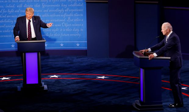 Trump vs. Biden debate: Amid the slugfest, faint signs of candidates'  strategies were visible - The Globe and Mail