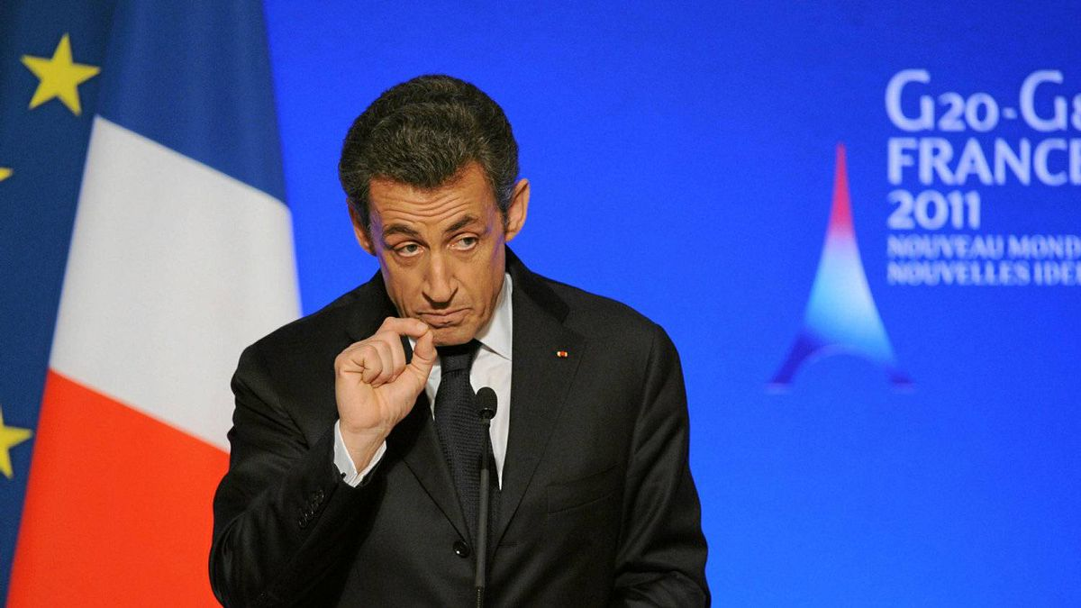 French President Nicolas Sarkozy gives a speech to G20 central banks governors at the Elysee Palace, on February 18, 2011 in Paris, as part of the two-day meetings with G20 Finance ministers and central bank governors, their first under France's presidency, focused on obtaining common criteria for measuring global economic imbalances.