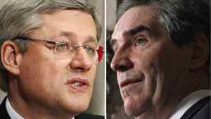A combination photo shows Prime Minister Stephen Harper, left, and Liberal Leader Michael Ignatieff. Reuters