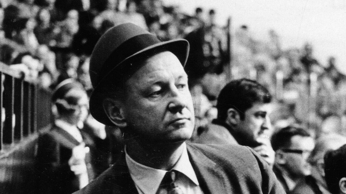 George (Punch) Imlach, pictured here in 1969, last coached the Toronto Maple Leafs in 1980. He also coached from 1958-1969.