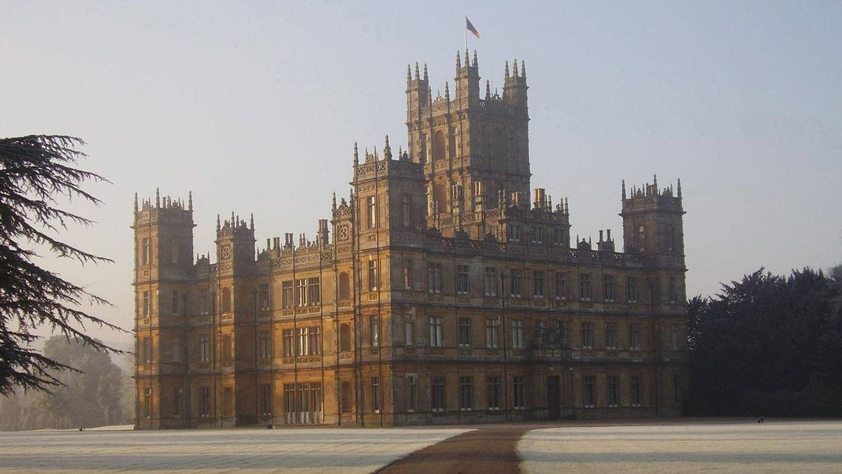 Highclere Castle in Newbury, England.