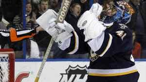 St. Louis Blues goalie Jaroslav Halak. (AP Photo/Jeff Roberson)