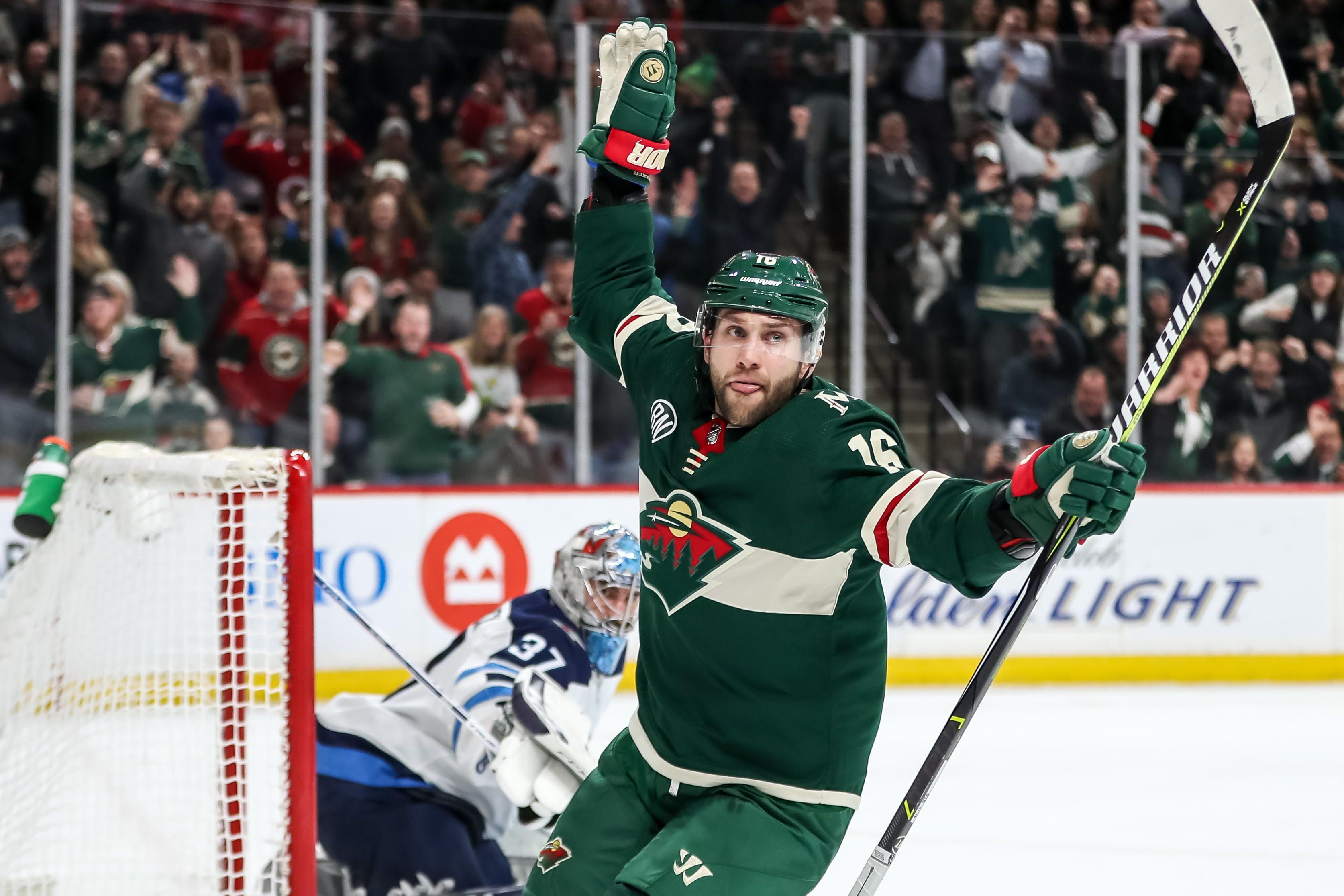 Jason Zucker Scores Pair Of Goals Wild Hold On To Beat Jets 3 2