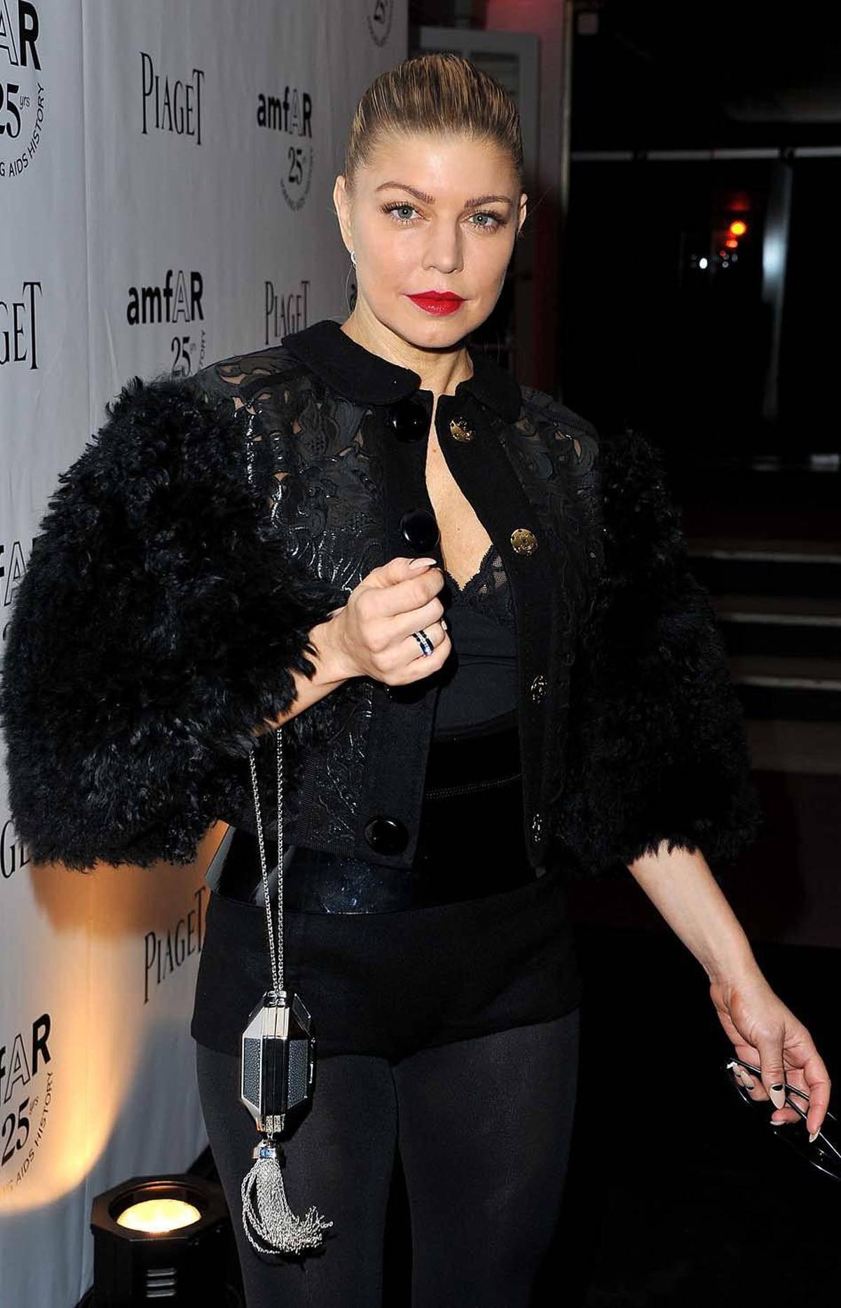 Fergie attends the amfAR Inspiration Gala at Pavillon Gabriel on June 23, 2011 in Paris, France.