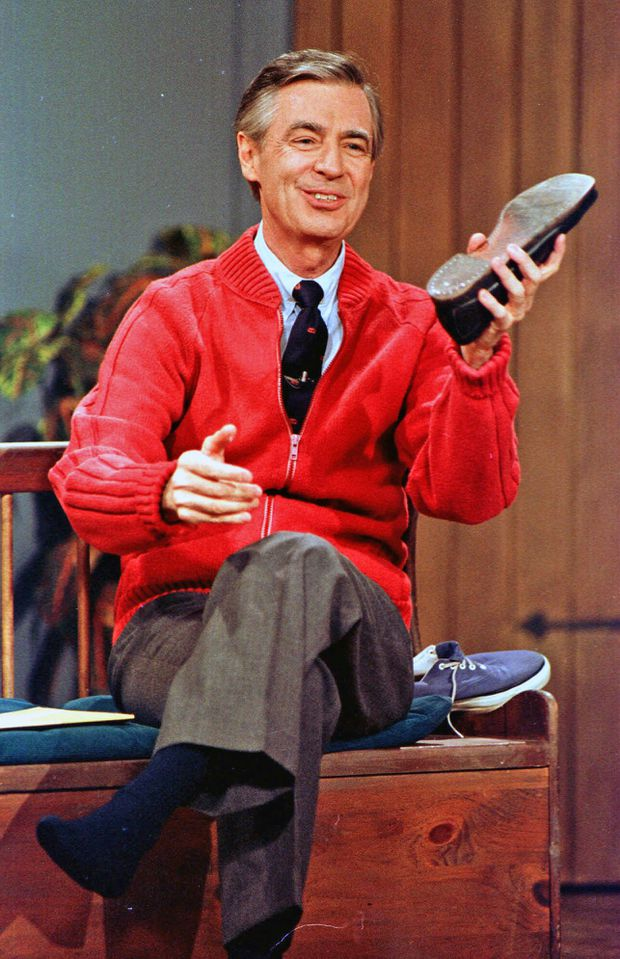 Be like Mister Rogers, and put on a cozy sweater. The world will be a better place for it