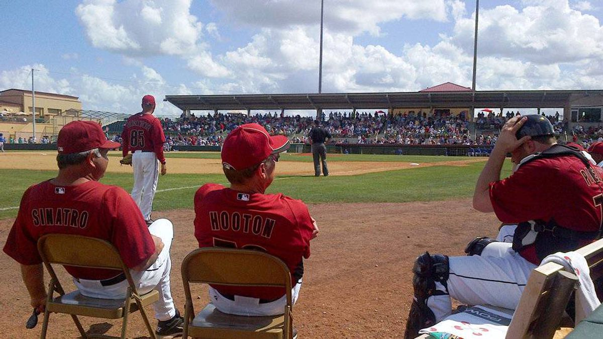 From Fergus Chapman, Oakville, Ont: I took the attached photo this in Florida at a Spring training game. I love how close you can get to the players and how easy it is to interact with them.