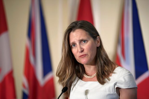 China singles out Chrystia Freeland for unusually personal rebuke over her comments about Hong Kong