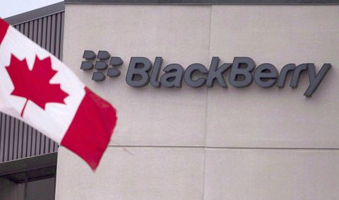 BlackBerry shares up as software business booms