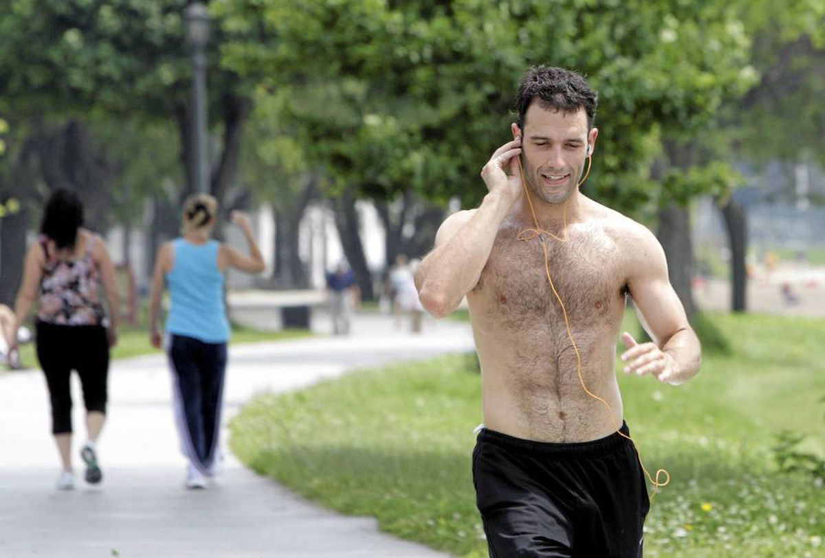 It's a good idea to gradually get used to running in the heat; tone your sweat glands like muscles.