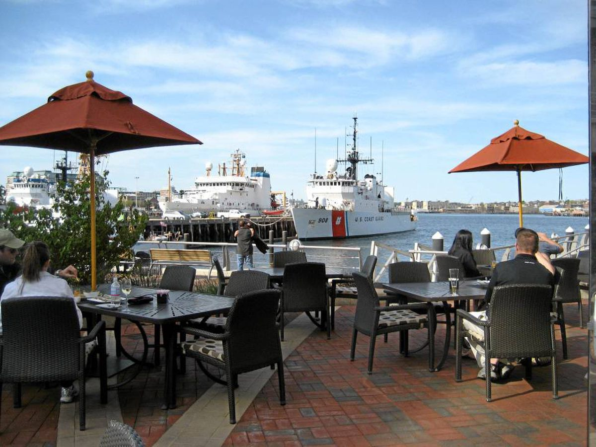 Watch the Coast Guard's comings and goings at Battery Wharf.