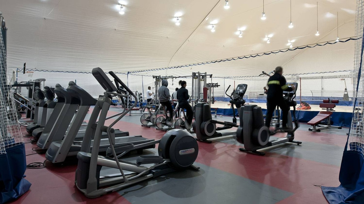 The gym at Meadowbank Mine.