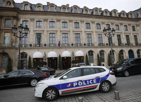 BREAKING NEWS: Three arrested and two on the run after masked robbers open fire at Ritz Hotel in Paris before making off with £3.5million of jewellery