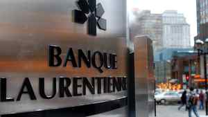 File photo of Laurentienne Bank's main branch in downtown Montreal.