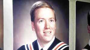 The official graduation photo of Jeff Delisle -- a naval officer arrested and charged with espionage -- who finished Sackville High School in suburban Halifax in 1990