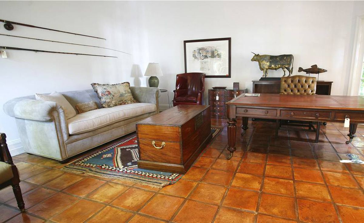 Everything in Bernard Madoff's study in his Palm Beach, Fla. home Tuesday, Sept. 8, 2009, is tagged for auction after the house was seized by the US government.