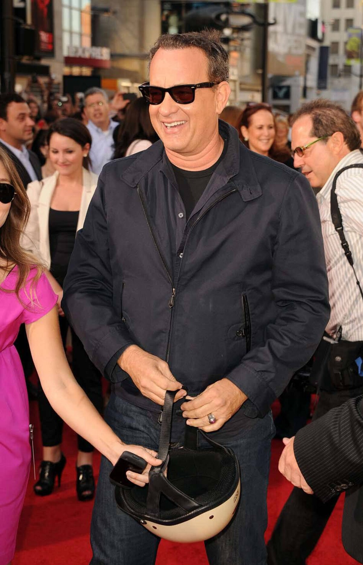 """Director/writer/producer/actor Tom Hanks arrives at the Premiere of Universal Pictures' """"Larry Crowne"""" at Grauman's Chinese Theatre on June 27, 2011 in Hollywood, California."""