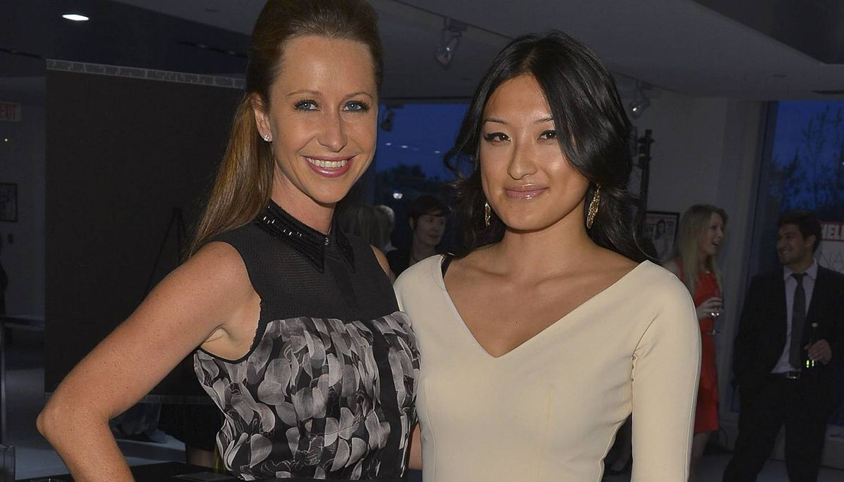 GP4_2420Jessica Mulroney and Krystal Koo attend Hello! Canada?s Most Beautiful Canadians red-carpet cocktail reception on May 9, 2012, at smart Centre Downtown in Toronto. Photo by George Pimentel