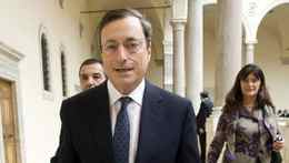 "New European Central Bank (ECB) President Mario Draghi leaves the ""World Savings Day"" meeting in Rome October 26, 2011. The reform proposal outlined by the Italian government in a letter to its European Union partners contains ideas which must now be acted on rapidly, Draghi said on Wednesday. REUTERS/Remo Casilli (ITALY - Tags: BUSINESS POLITICS)"
