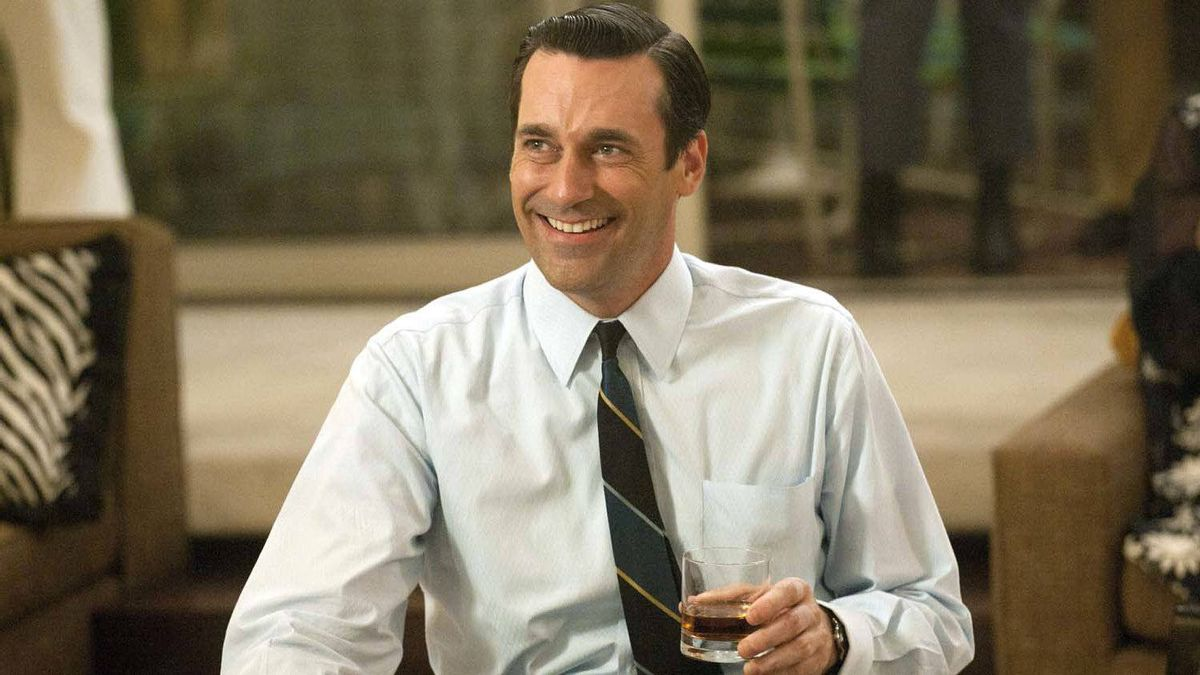 "Jon Hamm as advertising executive Don Draper in a scene from the fifth season premiere of ""Mad Men."""