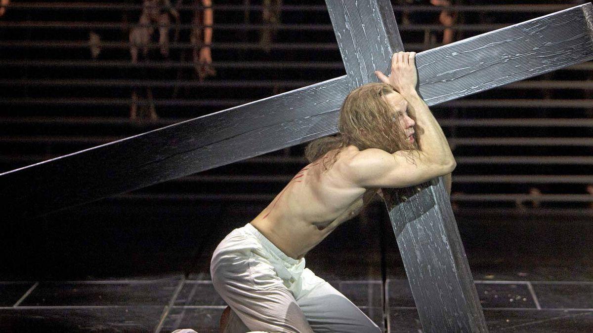 "Paul Nolan as Jesus in ""Jesus Christ Superstar"""