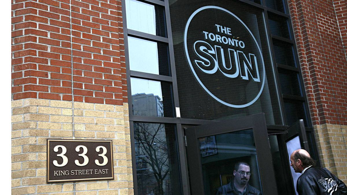 The offices of The Toronto Sun, part of the Sun Media newspaper chain.