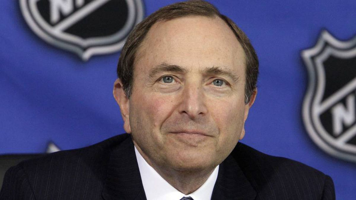 NHL Commissioner Gary Bettman poses at the offices of the National Hockey League in New York, April 19, 2011.