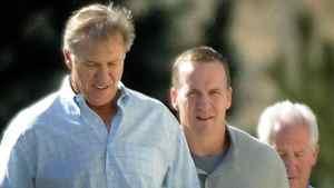John Elway and Peyton Manning on March 9.