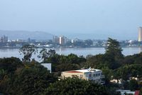 A view of Brazzaville, the capital of the Republic of Congo, as seen from Kinshasa, capital of the neighbouring Democratic Republic of Congo Oct. 19, 2005.