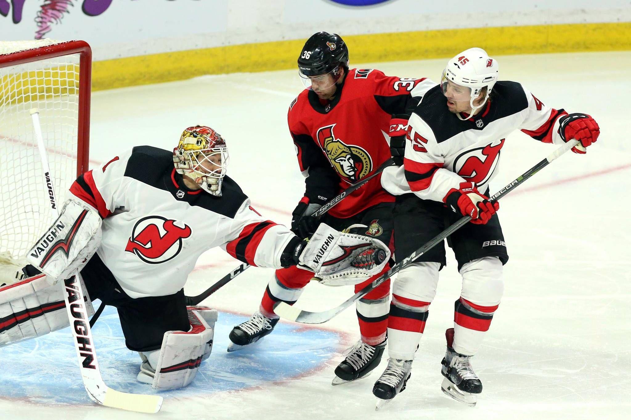 c12222e1f10 Duchene's three-point night leads under-manned Senators past Devils ...