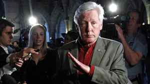 Liberal MP Bob Rae arrives for a post-election caucus meeting in Ottawa on May 11, 2011.