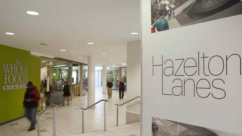 Hazelton Lanes shopping centre in Toronto.