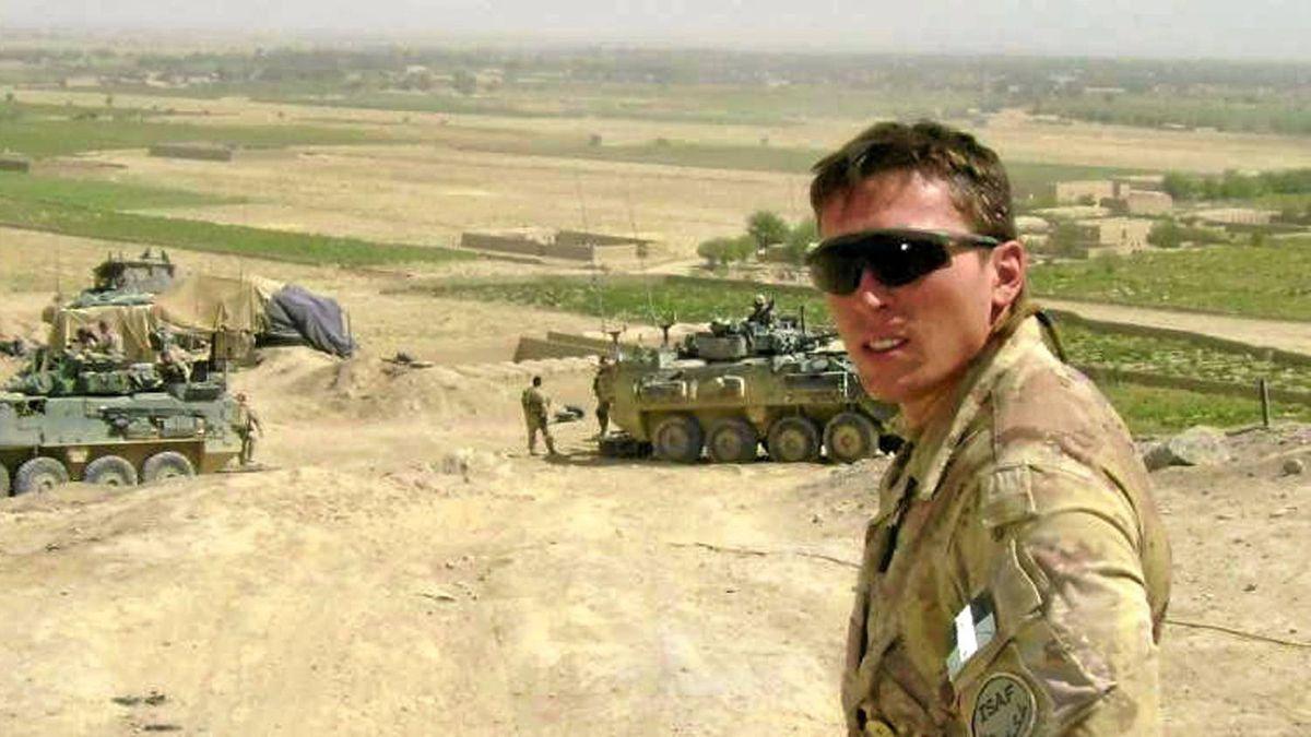 Author Matt Lennox in Panjwaii District, Kandahar, in September, 2008.