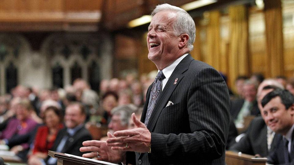 Jay Hill, the Conservative MP for Prince George-Peace River, delivers his farewell address to the House of Commons on Oct. 4, 2010.