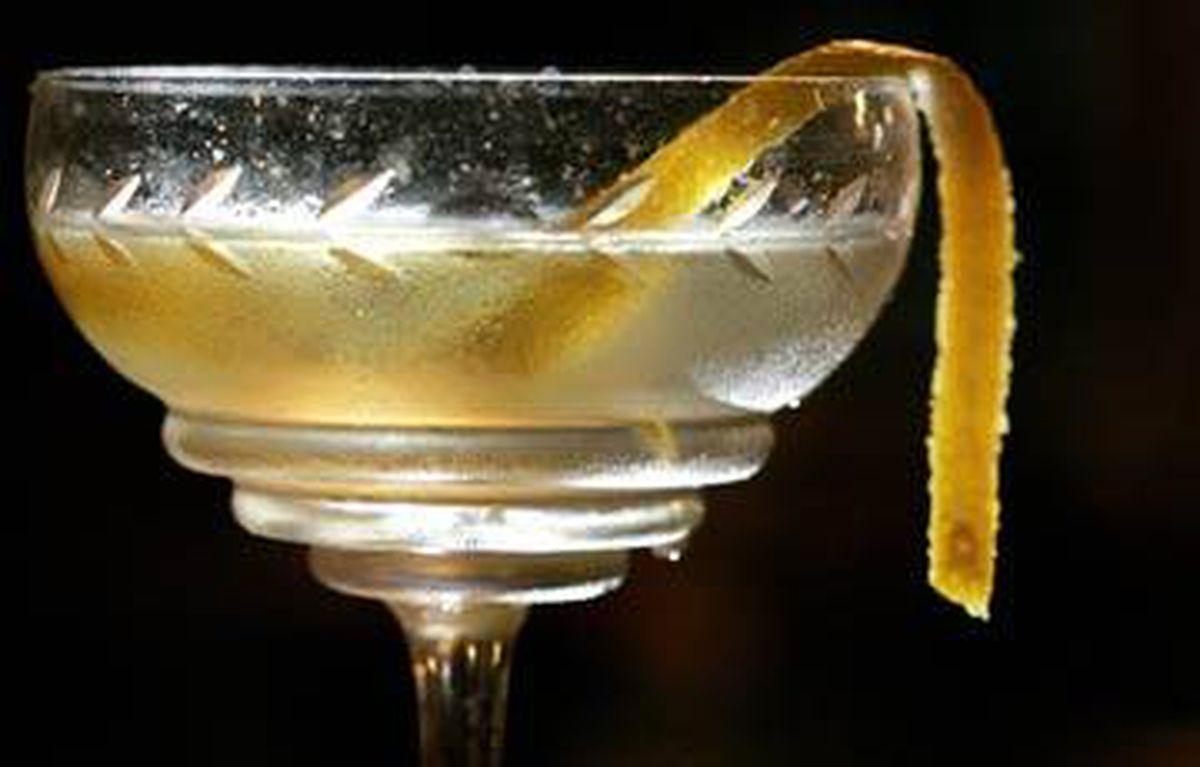 The Tequila Martinez includes peach bitters and Lillet for a twist on the original.