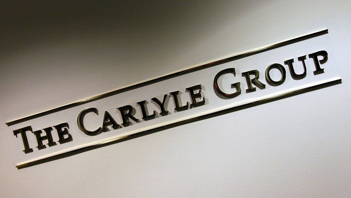 A sign for the Carlyle Group, a private equity firm.